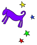 Purple dog